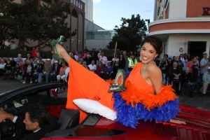 MISS AMERICA PARADE: Miss Florida Myrrhanda Jones. - Photo by Edward Lea