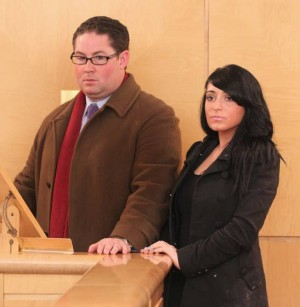 Angelina from 'Jersey Shore' visits A.C. court