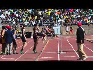 Race footage of Pleasantville's win at Penn Relays