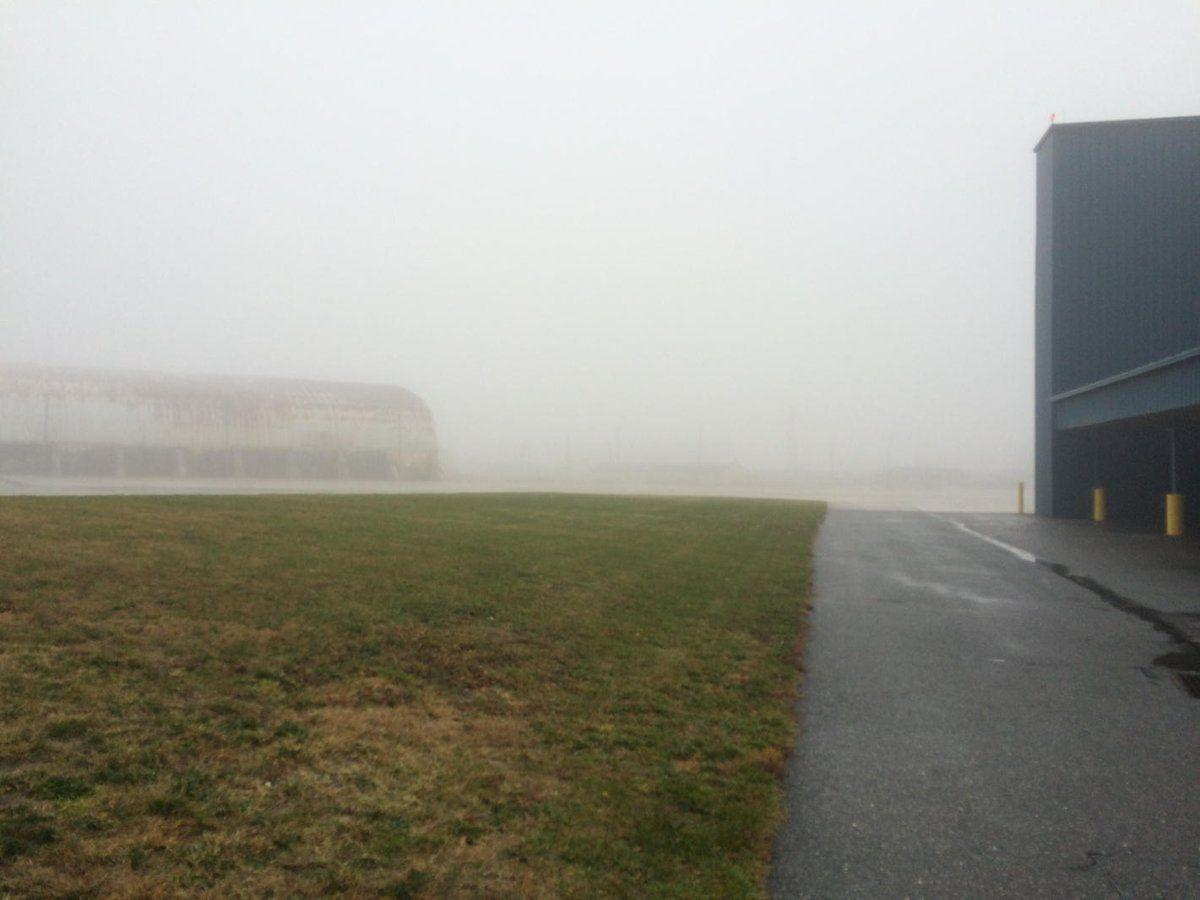 Fog at Millville Airport