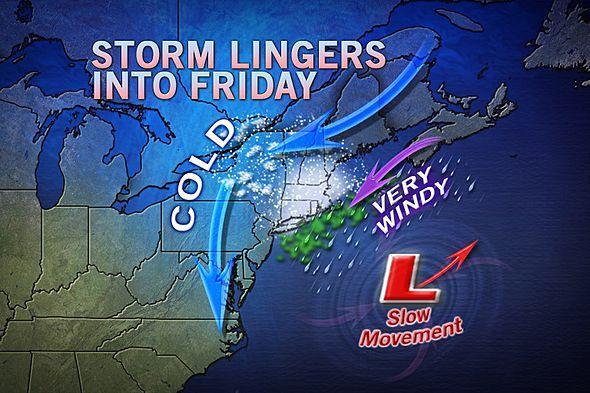 Storm lingers