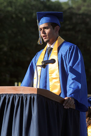 Buena Regional High School Graduation: Master of Ceremony and Senior Class President Makhvan Singh, from Buena, welcomes the families and friends to the Buena Regional High School's Class of 2014 Commencement Program held at the High School in Buena Friday, June 20, 2014. Photo/Dave Griffin - Dave Griffin