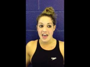 Sydney Boswell talks about Mainland winning a South Jersey swimming title