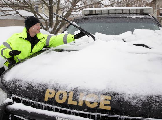 Snowstorm doesn't mean day off for many workers