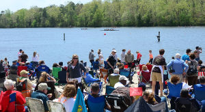 Atlant Co Row: People crowd the beach at the lake. Sunday May 12 2013 Atlantic County High School Rowing Championships at Lake Lenape, Mays Landing. (The Press of Atlantic City / Ben Fogletto)  - Ben Fogletto