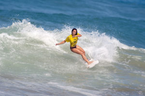 Maddie Peterson at World Junior Surfing Championships