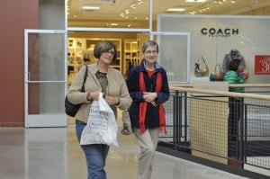 Pa. Casinos 2: Beverly Looker, of Bethlehem, Pa., and longtime friend Betty Ann Girvin, of Orwigsburg, Pa., enjoy the shopping mall at the Sands Casino inj Bethlehem, Pa., Wed., Oct. 24.  - Press photo by Chris Post