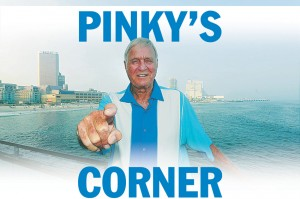  ATS Pinky Kravitz: Pinky Kravitz, local personality on the deck at the Pier at Caesars.