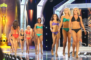 Miss America 2 PRELIMS: contestant walks the runway during swimsuit portion of the preliminary second round of the Miss America pageant at Boardwalk Hall in Atlantic City, New Jersey, September 11 2013 - Photo by Edward Lea