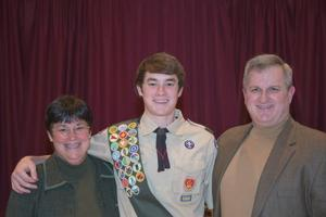 Galloway teen completes 12-year march through Scouting, achieving Eagle rank