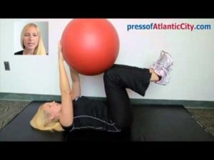 Your Workout: Stability Ball Dead Bug