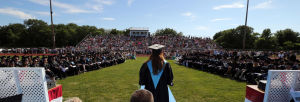 LCMR Graduation: Lower Cape May Regional valedictorian Taylor Mahon, delivers her address. Lower Cape May Regional High School graduation. Friday June 20, 2014. (Dale Gerhard/Press of Atlantic City) - Dale Gerhard