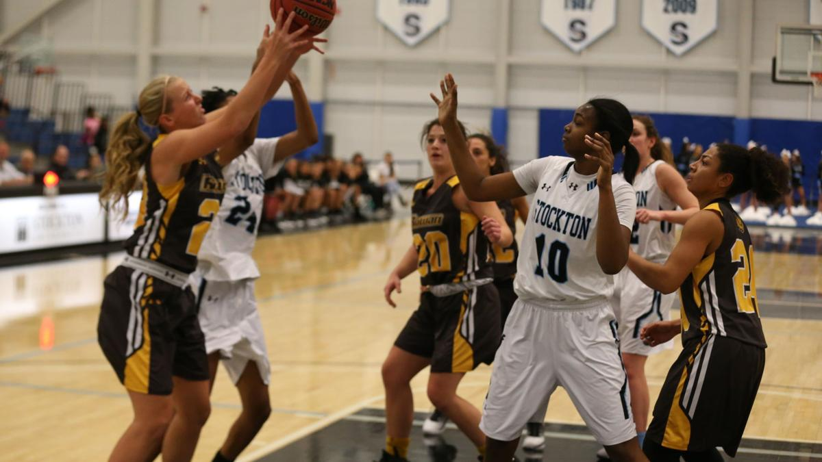 Stockton vs Rowan women college basketball