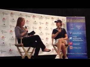 Michelle Wie interview after Day 1 of ShopRite LPGA Classic