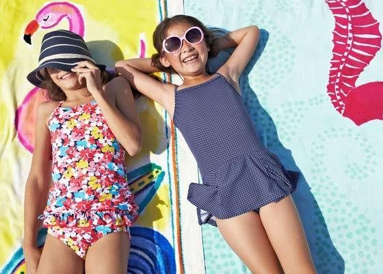 Little girls in bikinis