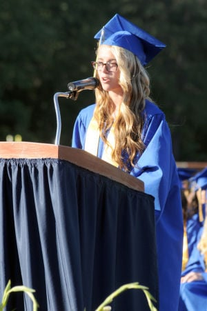 Buena Regional High School Graduation: Salutatorian Lisa Testa, 17, from Buena, address the audience during Buena Regional High School's Class of 2014 Commencement Program held at the High School in Buena Friday, June 20, 2014. Photo/Dave Griffin - Dave Griffin