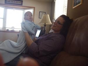 Suzanne Belber and nephew