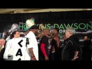 Bernard Hopkins vs. Chad Dawson staredown