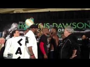 Bernard Hopkins vs. Chad Dawson staredown