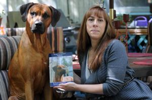 EHT Woman Becomes Writer To Chronicle Antics Of Gunnar, A Rhodesian Ridgeback: Egg Harbor Township author Lori Wittenwiler, recently published her book 'Through the Eyes of a Ridgeback: Gunnar's Deep Thoughts' from the perspective of her 2-year-old Rhodesian ridgeback, Gunnar. - Dave Griffin