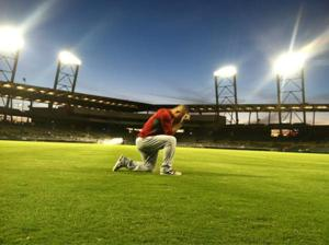 Trout Tebowing