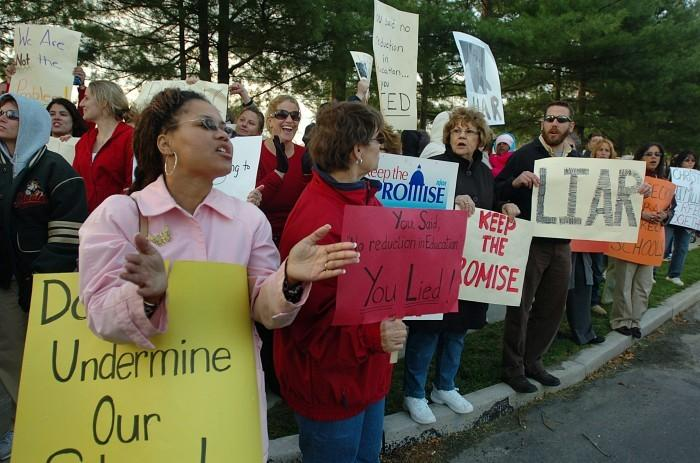 christie protest