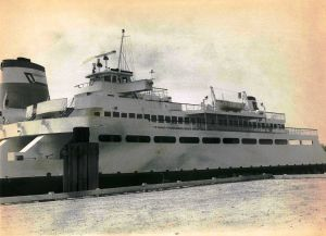 Cape May-Lewes Ferry 5.jpg: June 22, 1977. The Cape May-Lewes Ferry, docked in Cape May. Press photo by Tom Kinnemand Jr. Historical photo archives