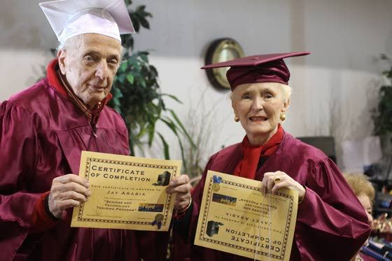 Elderly Father And Daughter Among Graduates From Computer