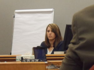 Latko: Holly Patterson testifies in court Wednesday in Mays Landing.  - Anjalee Khemlani