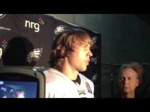 Nick Foles talks about the Eages' 23-21 win over the Buccaneers, Dec. 9, 2012