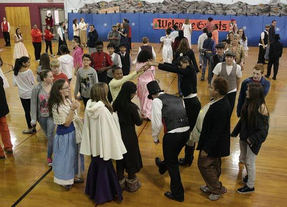 Attales Middle School eighth-graders have Dickens of a time