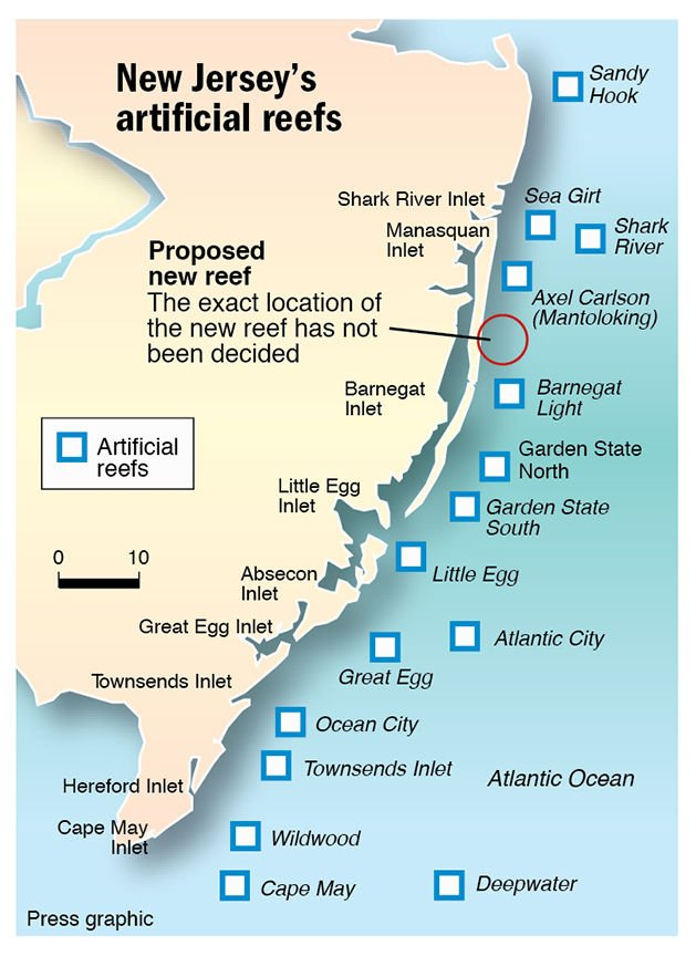 Plan for artificial reef off Ocean County fuels fighting ...
