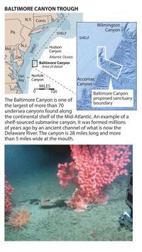 Baltimore Canyon Atlantic Ocean map ...