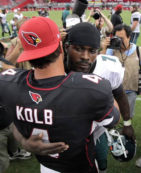 Ball security difference between Kolb, Vick