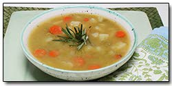 Warm up with split pea soup