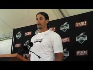 Riley Cooper addresses media after return