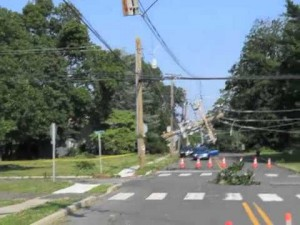 Utility poles at Patcong and Wabash Avenue, in Linwood, NJ