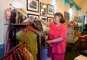 Heritage Tourism: Sally Hastings arranges historical clothing inside the museum. Friday July 5 2013 The Somers Point Historical Society is looking to create a Heritage Tourism District to highlight the legacy, history and historical landmarks of Somers Point. Sally Hastings of Somers Point is the president of the Somers Point Historical Society, Inc. (The Press of Atlantic City / Ben Fogletto) - Ben Fogletto
