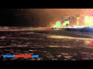 Ocean at 8:30pm Sunday, Oct. 28, 2012 in Atlantic City
