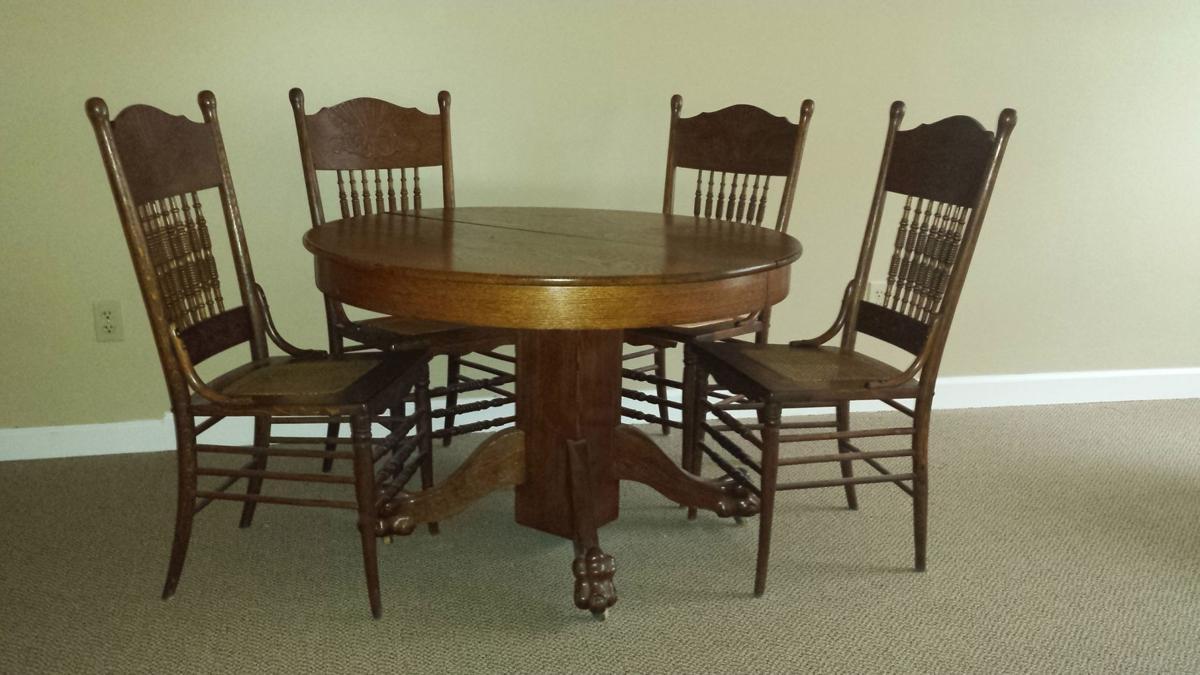 Antique oak dining room sets
