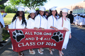 Bridgeton Graduation: Image captured during the Bridgeton High School�s Class of 2014 Commencement Program held at the Jim Hursey Memorial Stadium in Bridgeton Tuesday, June 24, 2014. Photo/Dave Griffin - Dave Griffin