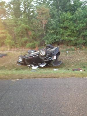 overturned vehicle crash 9-24