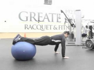 Your Workout: Lower Ab Crunch (off stability ball)