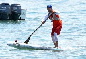 Ship Bottom lifeguard wins 17-mile paddleboard race across Delaware Bay