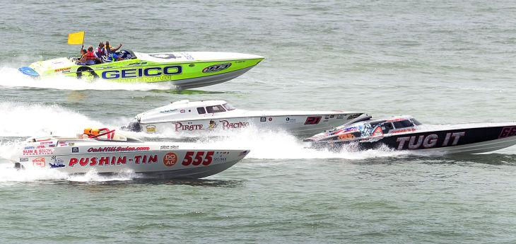 Power boats in Atlantic City
