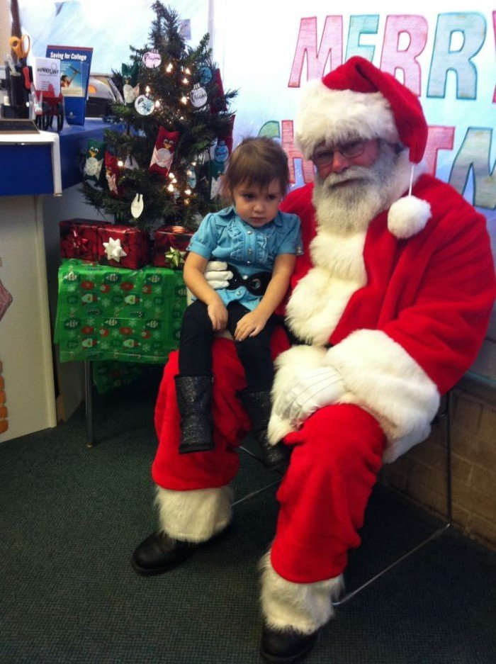 kid with santa