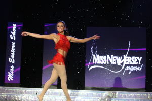 MISS NJ DAY ONE: Miss Eastern Shore Brenna Weick perform her talent dance in preliminary competition during Miss New Jersey pageant at the Ocean City Music Pier Thursday June 13, 2013.  - Photo by Edward Lea