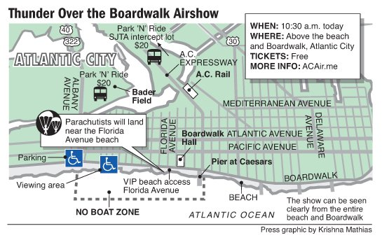 Atlantic City airshow map 8-2012