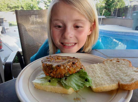 Veggie burgers on the grillThese meatless patties are delicate but delicious