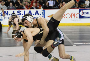 State Wrestling Tournament: 152 lb - Nicholas Racanelli Southern (bottom), Inan Sikel South Plainfield. Friday March 7 2014 State Wrestling Championships at Boardwalk Hall Atlantic City. (The Press of Atlantic City / Ben Fogletto) - Ben Fogletto